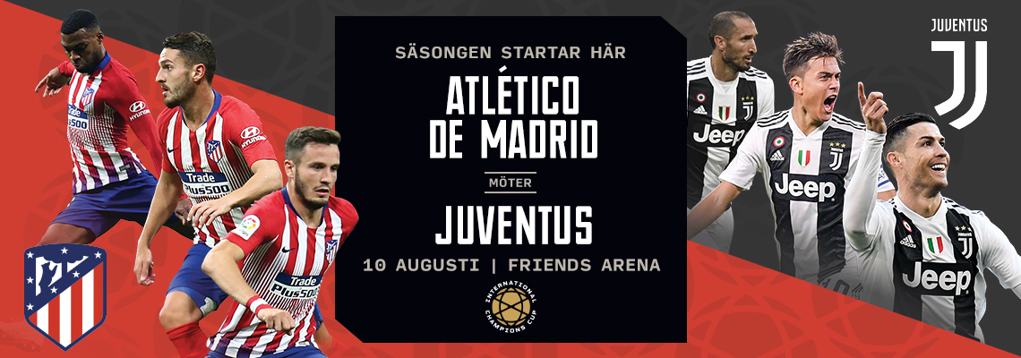 Fotbollsresa Altético de Madrid vs. Juventus - Friends Arena
